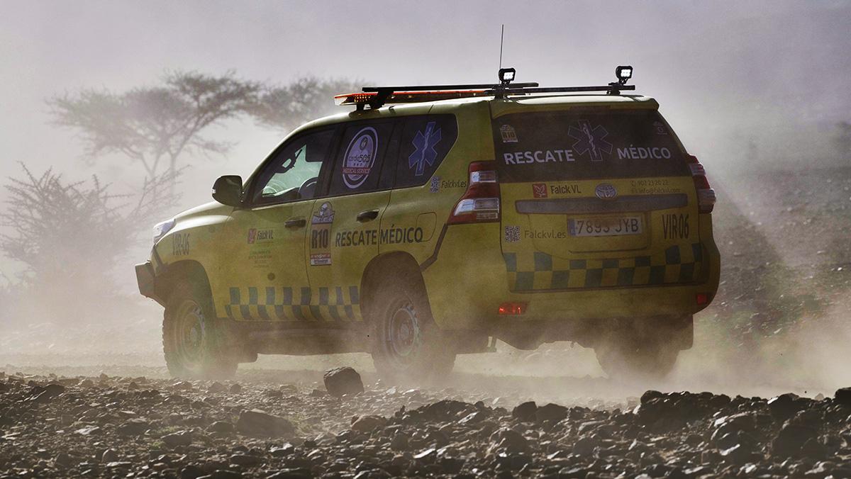 Asistencia medica en pista de la Maroc Challenge